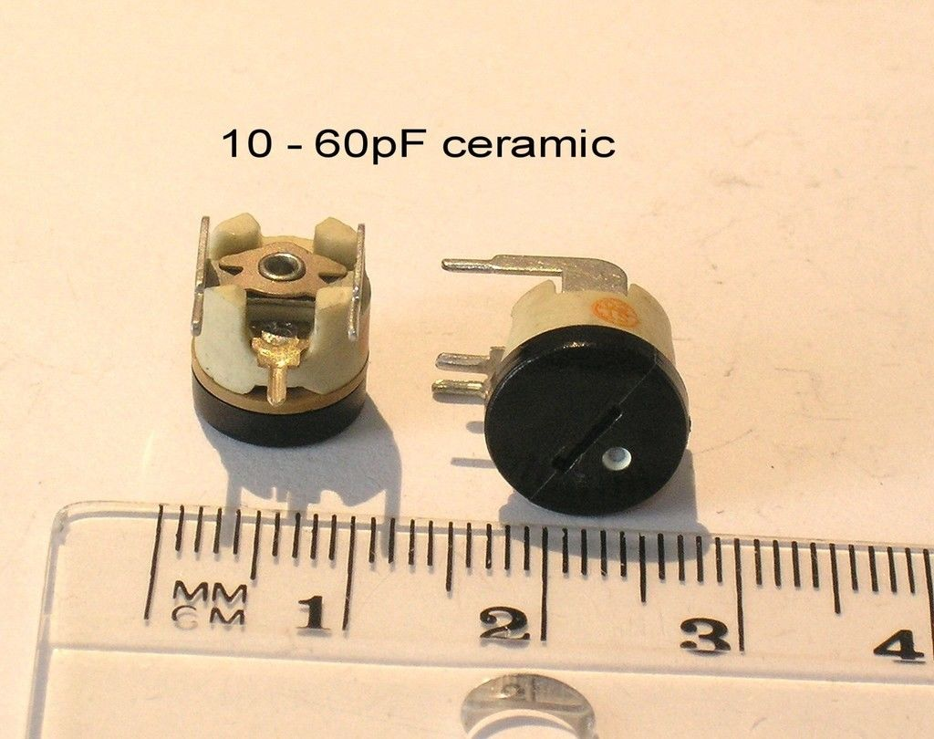 Variable Ceramic Trimmer Capacitors Horizontal Mounting 10