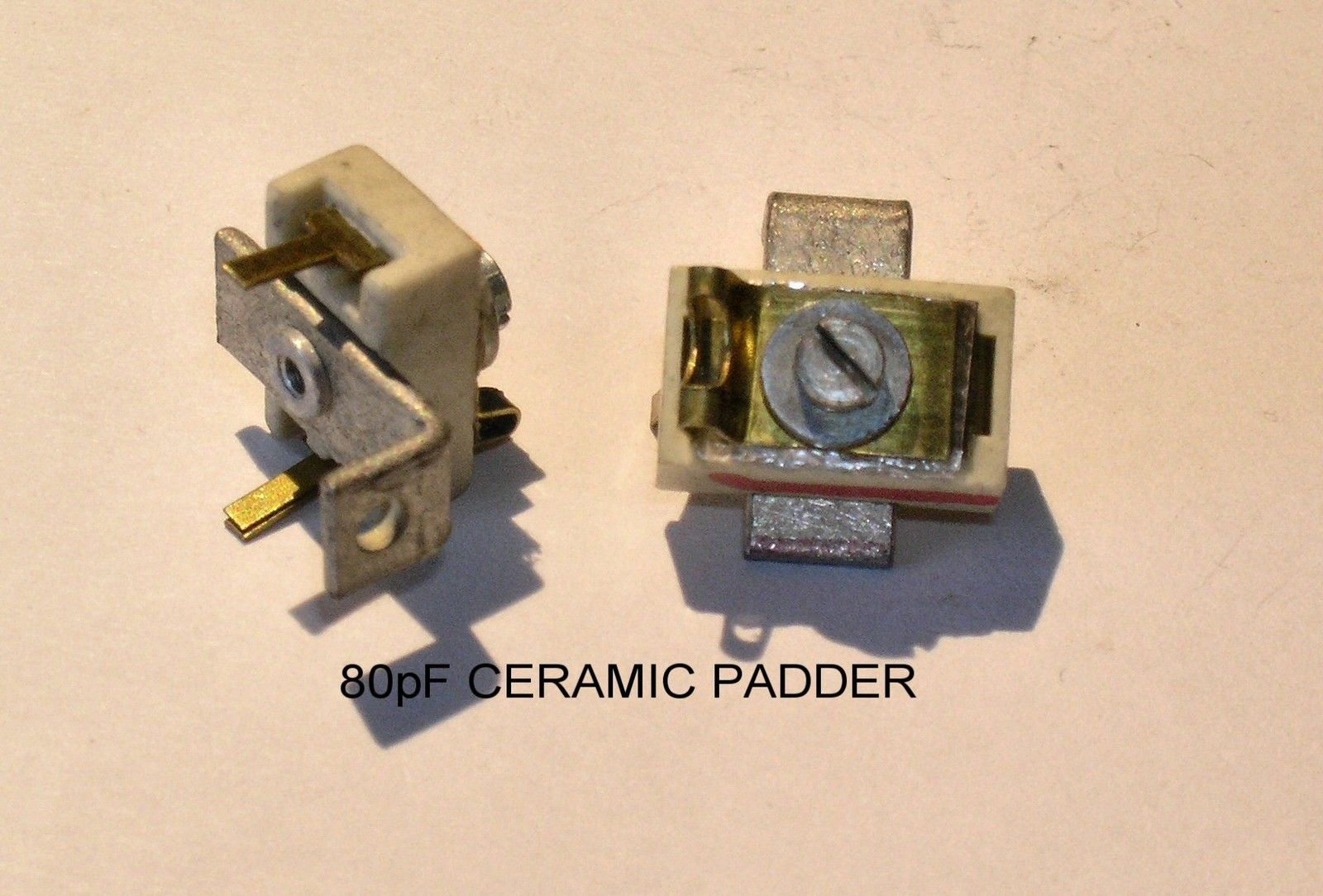 Variable Ceramic Mica Padder Trimmer Capacitor 6 80pf